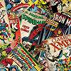 Marvel gyerek tapéta szuperhős képregény mintával