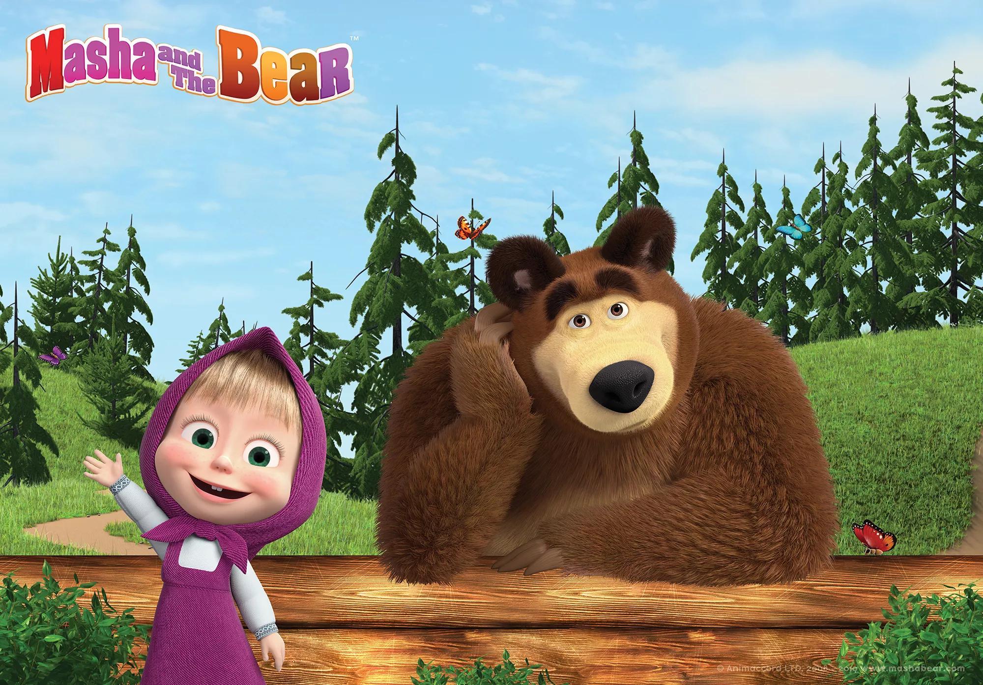 Mása és a medve fali poszter gyerekszobába