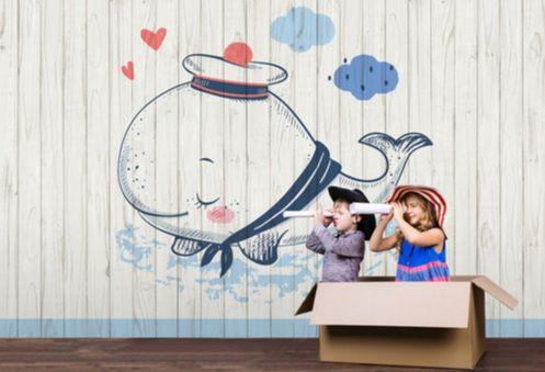 Matróz bálnás fali poszter gyerekszobába