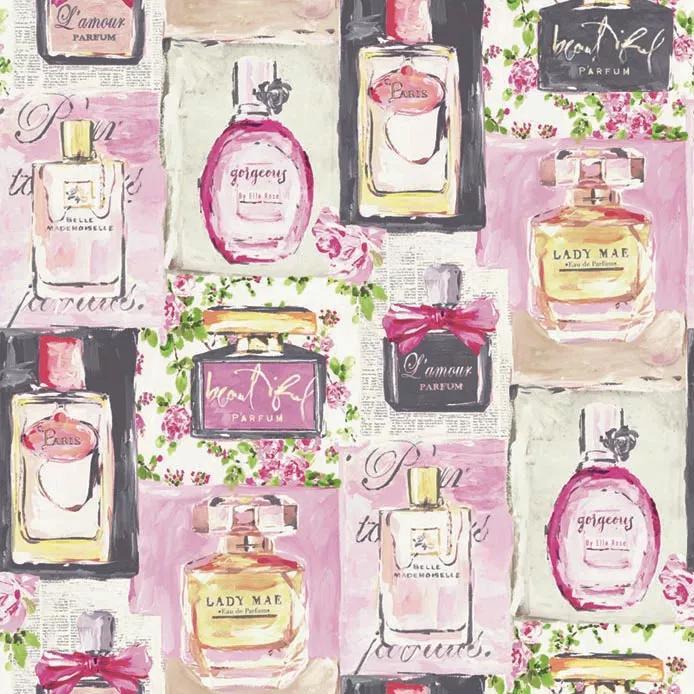 Merész és egyben csajos parfüm mintás glamour tapéta