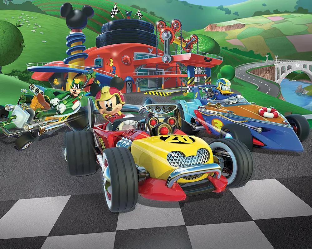 Mickey Egér az autóversenyző óriás fali poszter
