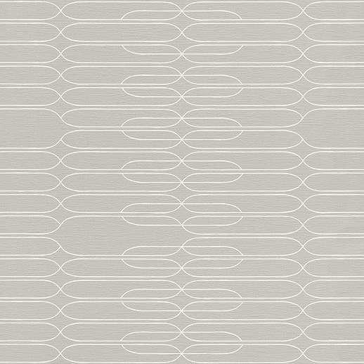 Minimalista tapéta szürke alapon krém színű geometriai mintákkal