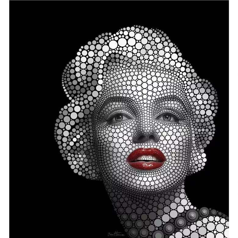 Modern absztrakt stílusú Marilyn Monroe mintás fali poszter