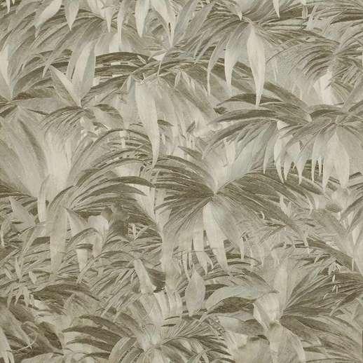 Modern arany metál fényes felületű tapéta pálmalevél mintával