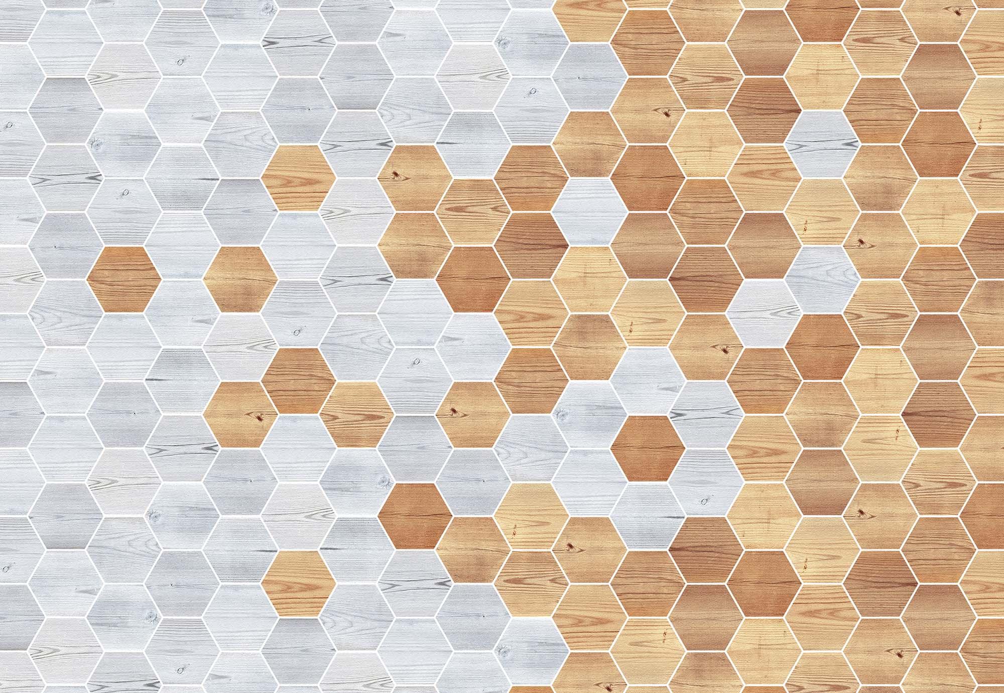 Modern fahatású geometriai mintás fali poszter
