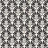 Modern fekete fehér tapéta pálmafa mintával