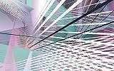 Modern geometriai mintás poszter