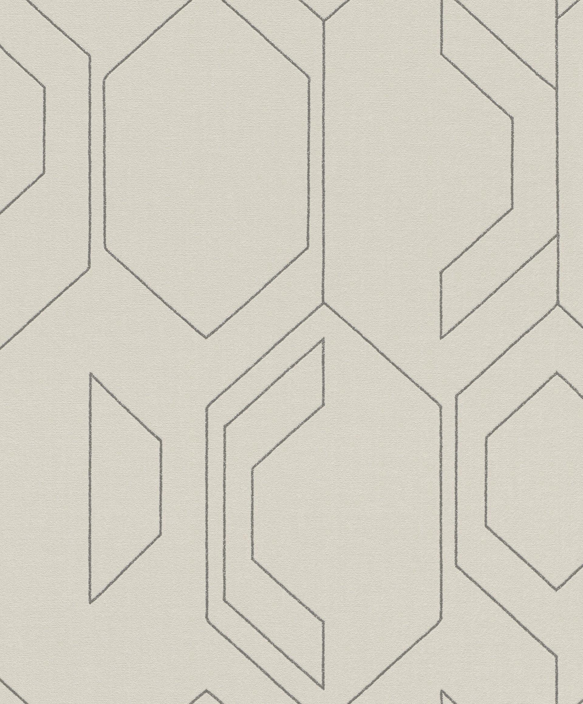 Modern geometriai mintás rasch tapéta