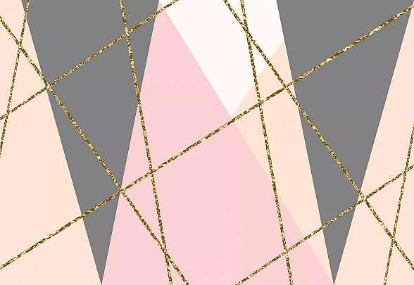 Modern geometrikus mintás fali poszter