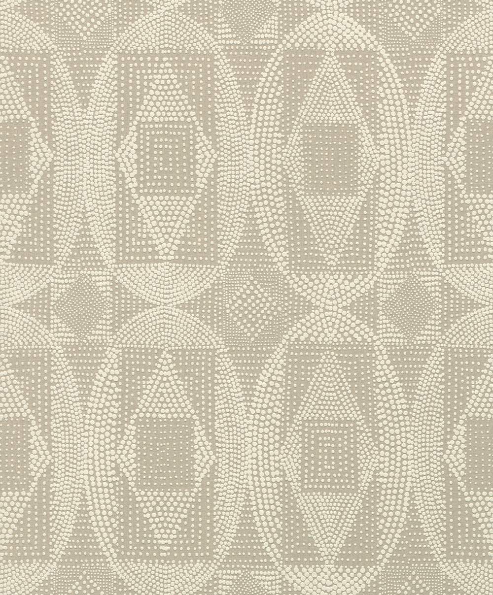Modern homokszínű geometriai mintás tapéta