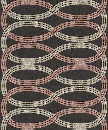 Modern hullám mintás vlies design tapéta