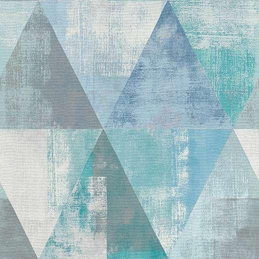 Modern kék háromszög geometrikus mintás tapéta
