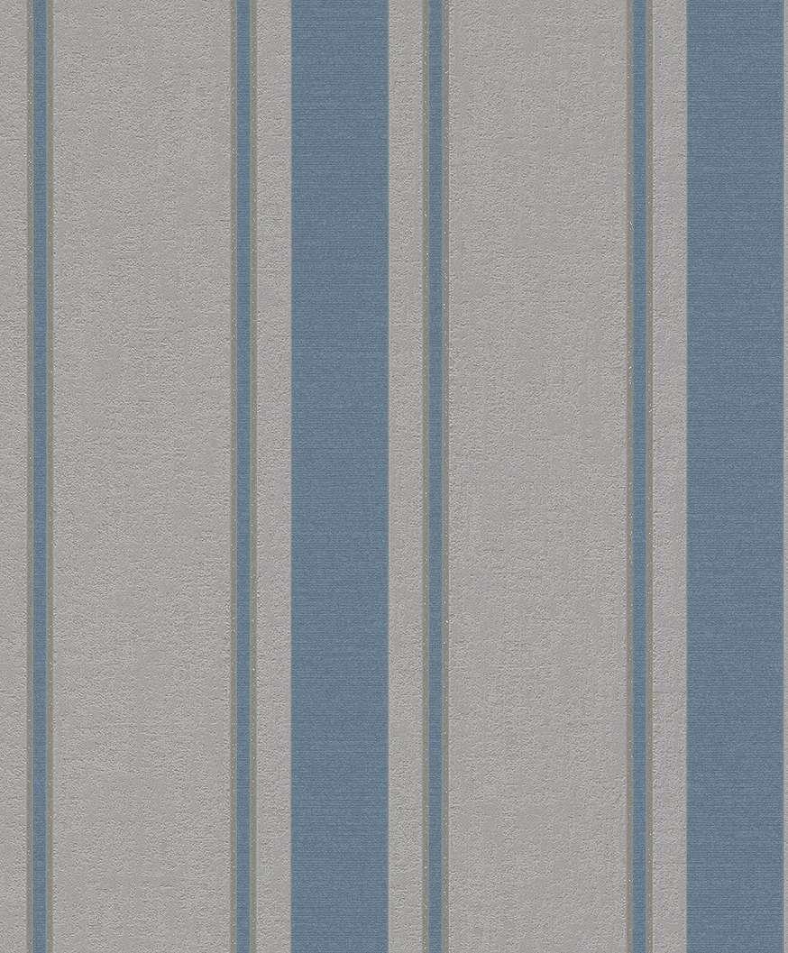 Modern kék-szürke csíkos mintás tapéta