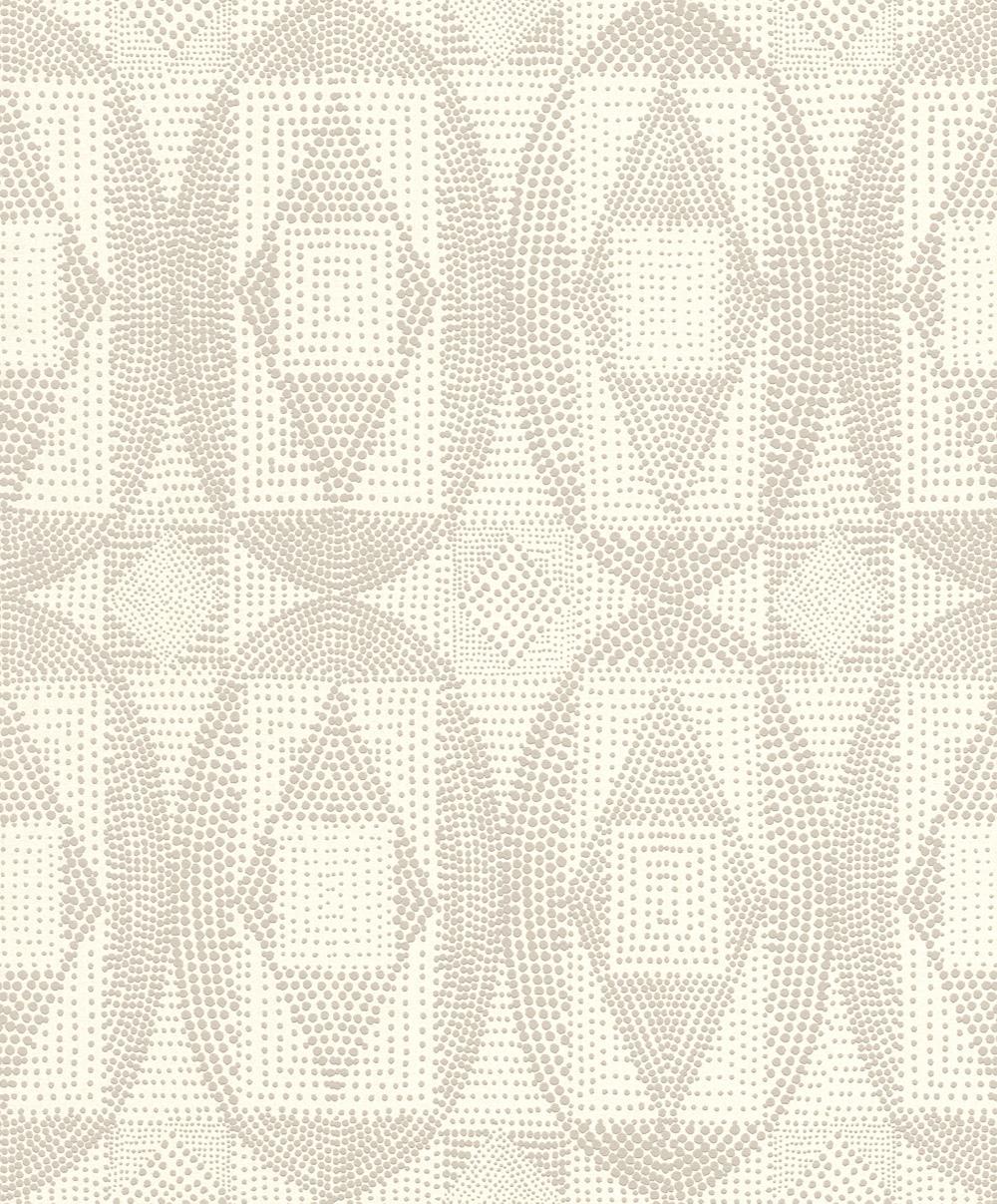 Modern krémfehér geometriai mintás tapéta