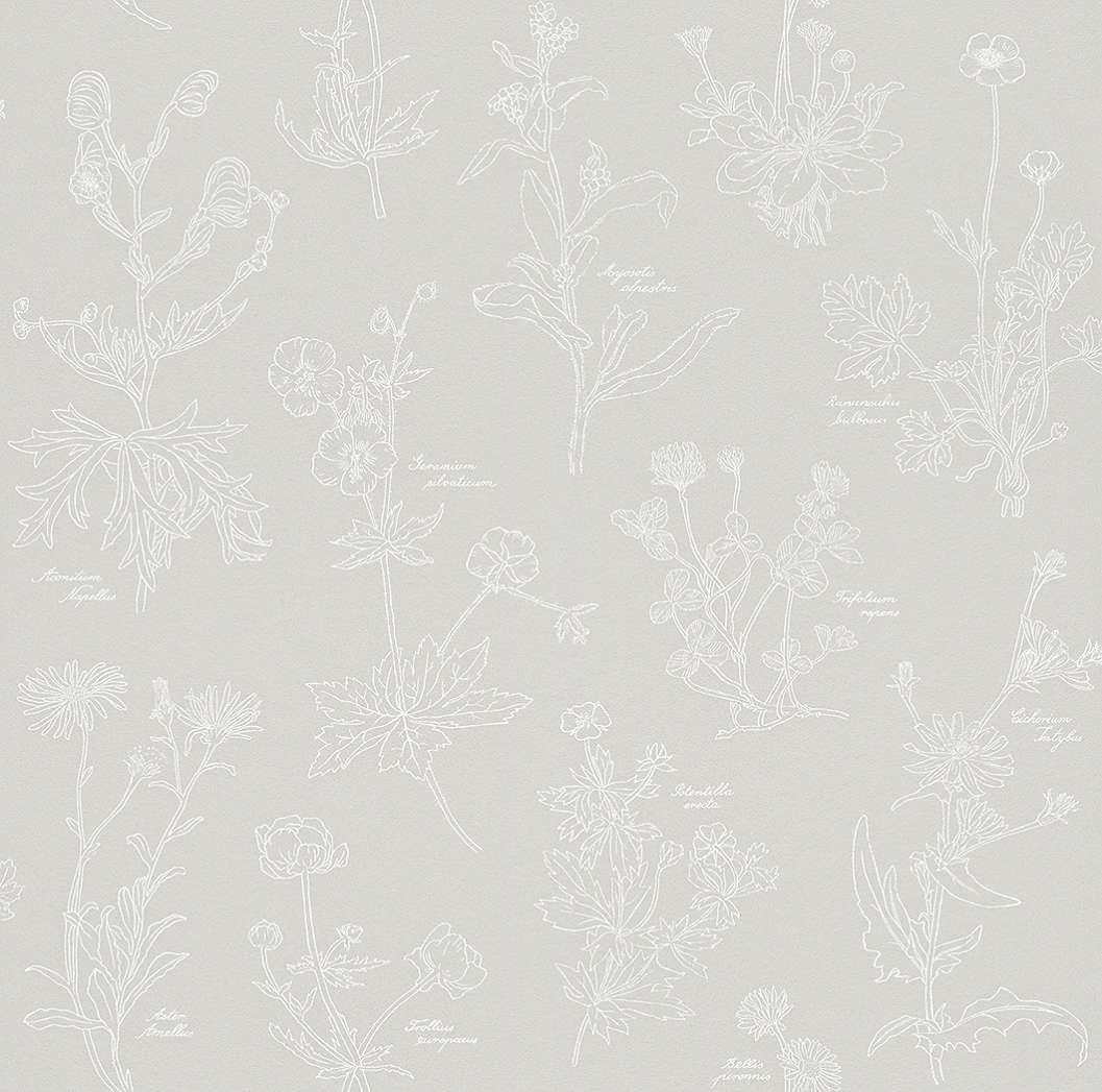 Modern organikus vadvirág mintás tapéta