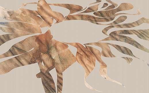 Modern őszi falevél mintás fali poszter