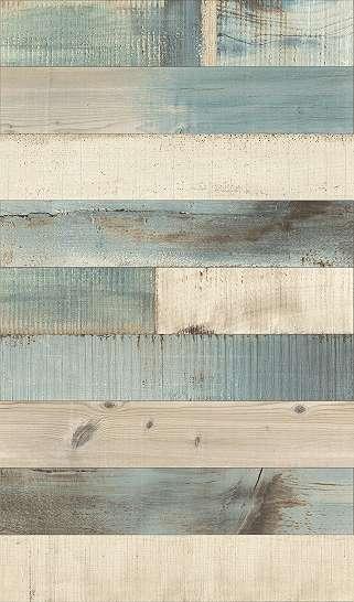Modern tapéta deszka mintákkal kékes, türkízes beütéssel