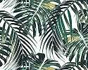 Modern trópusi pálmalevél mintás vlies fali poszter