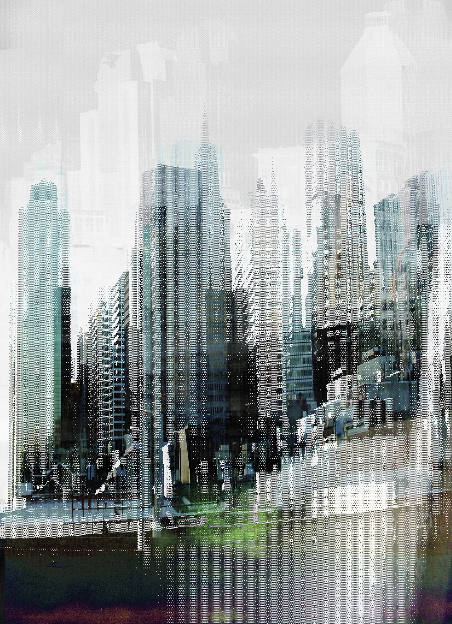 Modern városi hangulat fali poszter