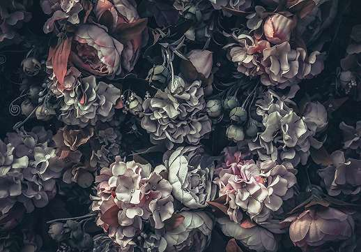 Modern virágmintás óriás fali poszter