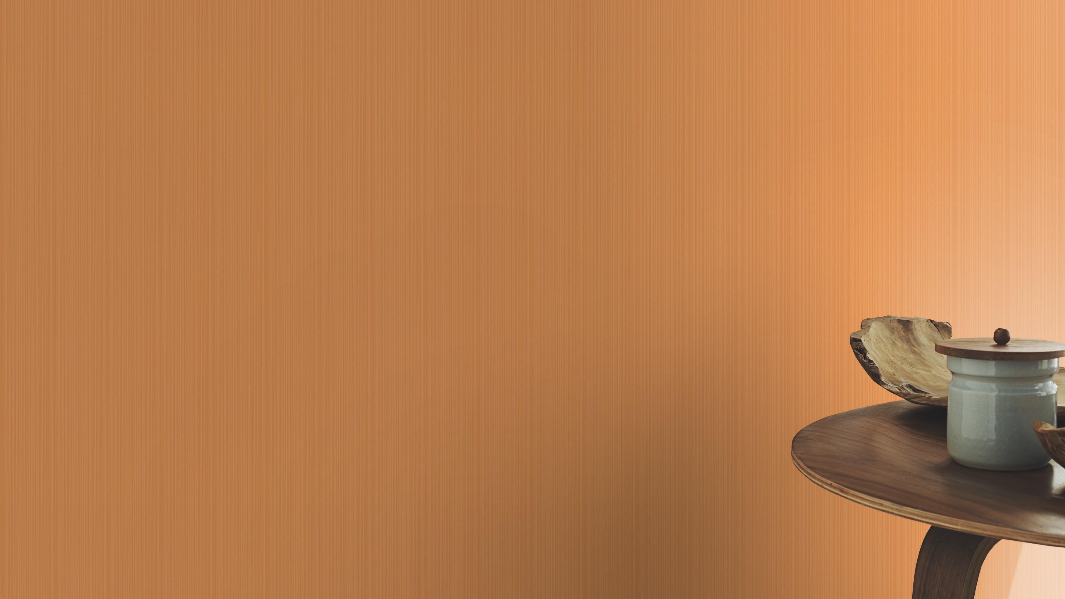 Narancssárga egyszínű csíkos retro tapéta
