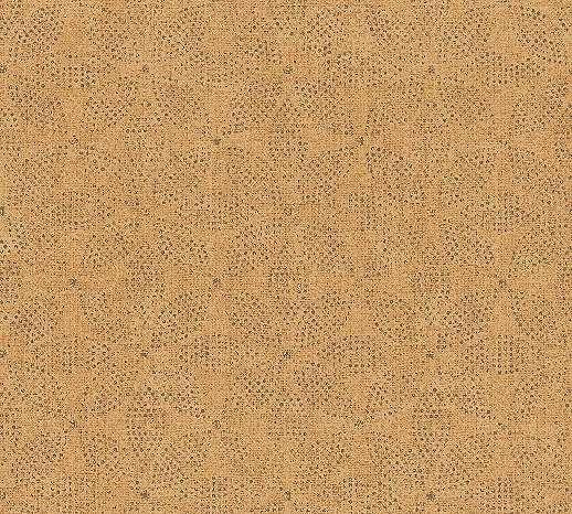 Narancssárga tapéta orientális stílusú geometrikus mintával