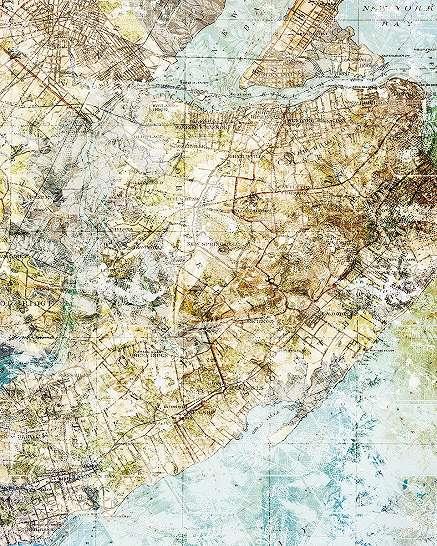 New York Staten Island térkép fali poszter