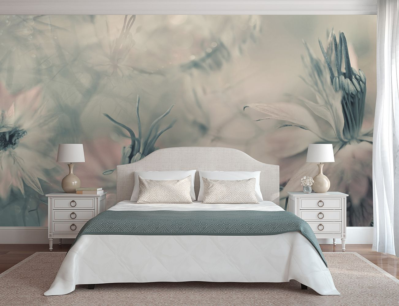 Nigella virágai fali poszter