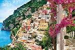 Olasz partmenti város fali poszter