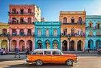 Órás fali poszter Kubai utca panorámával