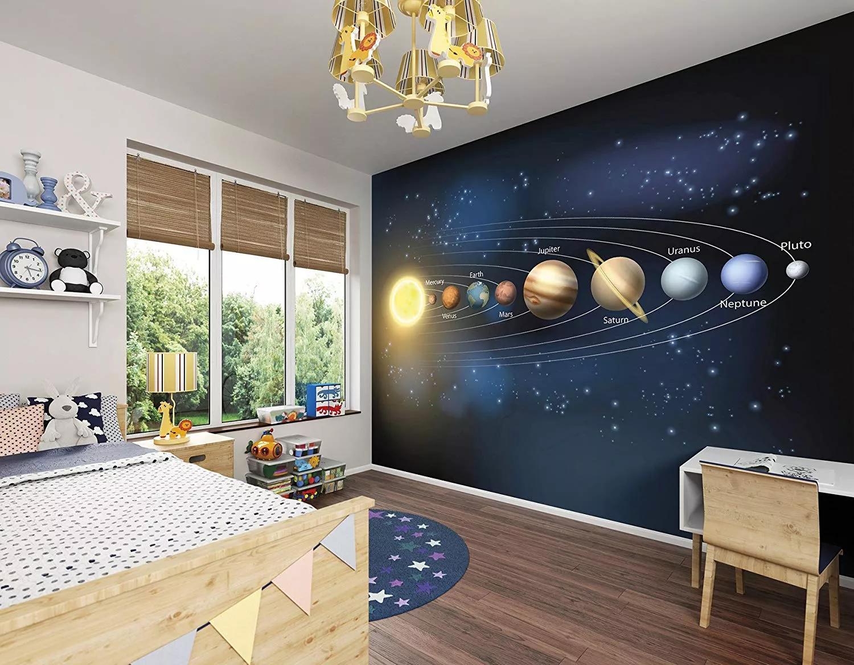 Óriás fali poszter a naprendszer bolygóival