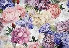 Óriás fali poszter asbztrakt színes virágmintával