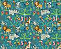 Óriás fali poszter gyerekszobába kedves rajzolt állat mintákkal