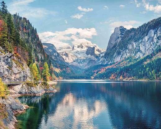 Óriás fali poszter szépia stílusban hegyvidéki táj mintával