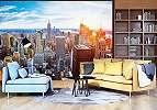 Óriás vlies fali poszter New York látképével