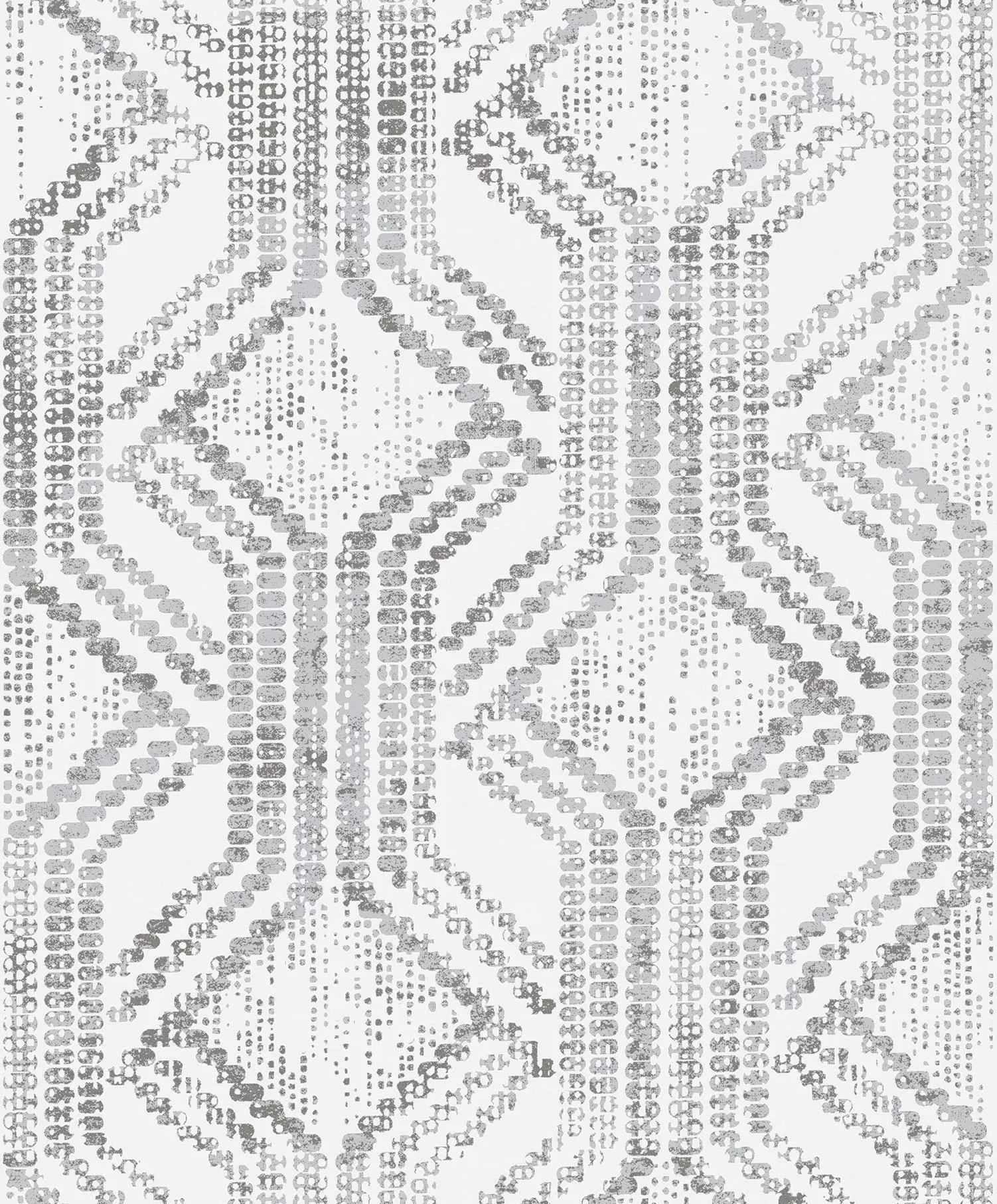 Orientális hangulatú geometrikus mintás luxus tapéta