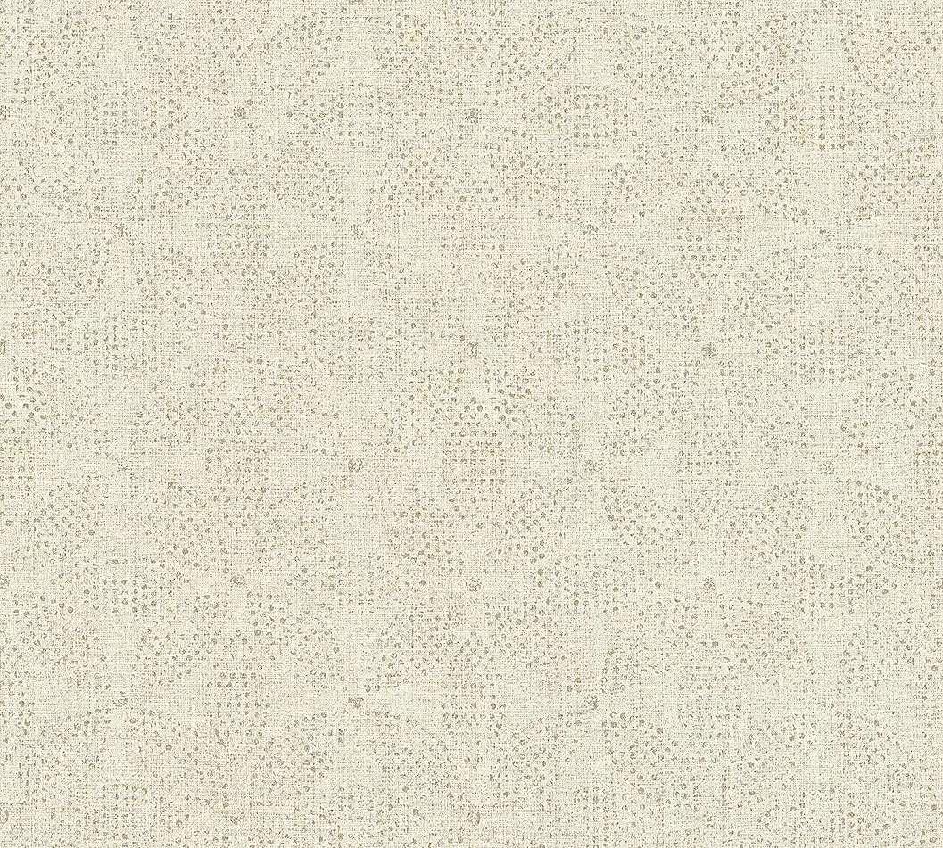 Orientális stílusú geometrikus mintás krém tapéta
