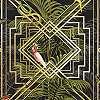 Papagáj mintás modern vlies dekor tapéta metál fényű geometrikus mintával