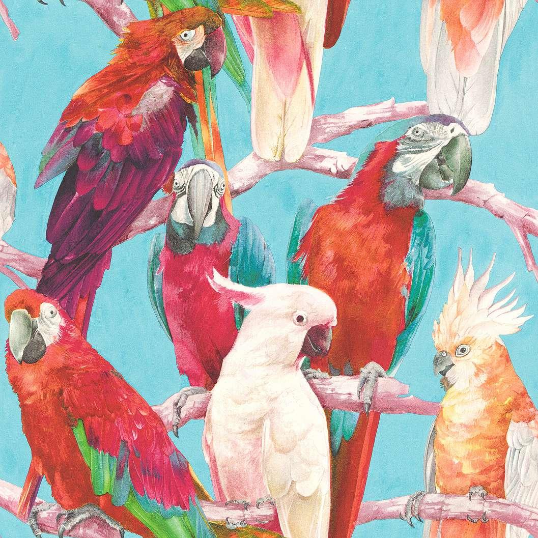 Papagály, madár mintás trópusi hangulatú tapéta
