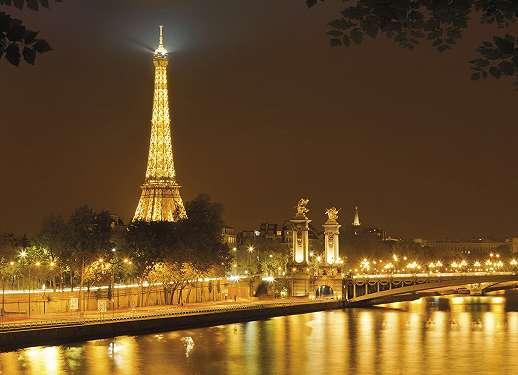 Párizs az éjszakában fali poszter