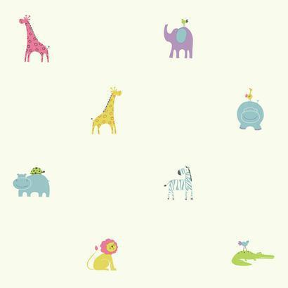 Pasztell állat mintás gyerek tapéta
