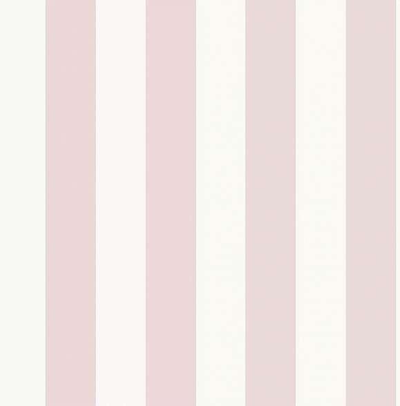 Pasztell rózsaszín csíkos mintás vlies gyerek tapéta