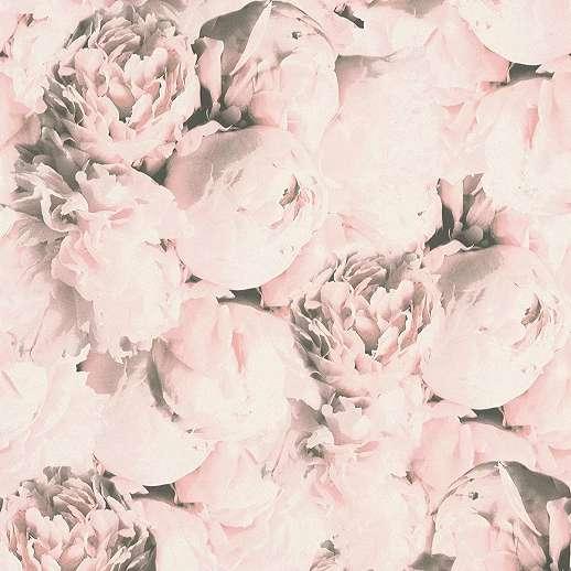 Pasztell rózsaszín rózsa mintás vlies vinyl design tapéta