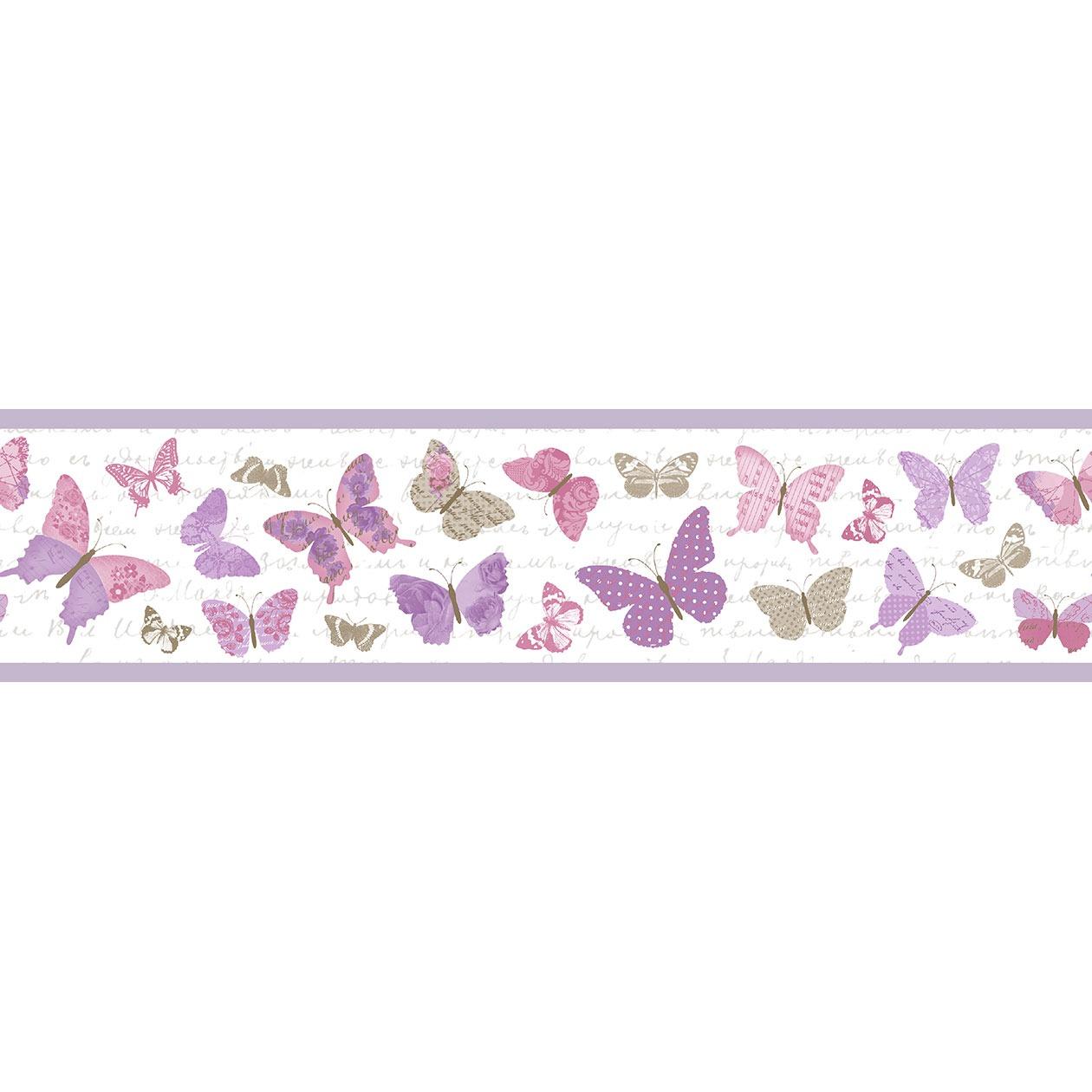 Pillangó mintás bordűr