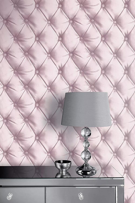 Pink dekor tapéta tűzött bőr hatású mintával