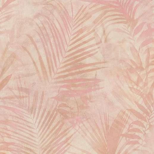 Pink modern vlies design tapéta mosható vinyl felülettel pálmalevél mintával