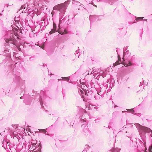 Pink rózsa mintás mosható vinyl dekor tapéta