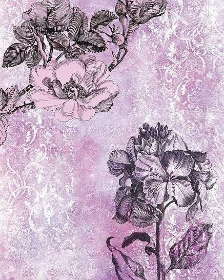 Pink vintage hangulató fali poszter