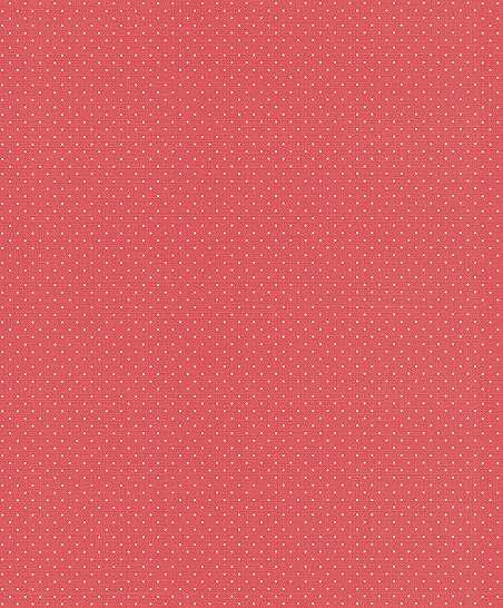 Piros alapon fehér apró pöttyös mintás tapéta
