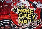 Piros graffiti mintás fali poszter téglamintás alapon